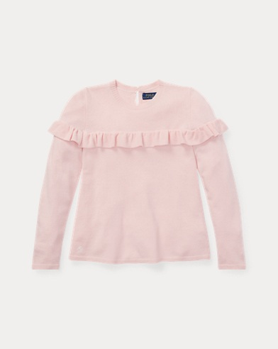 Ruffled Cashmere-Blend Sweater
