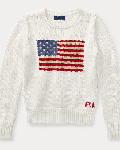 Flag Cotton Crewneck Jumper