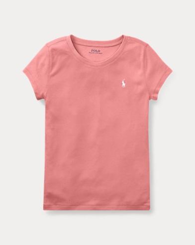 Rundhals-T-Shirt aus Baumwollmodal
