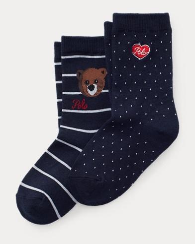 Lot de 2 paires de chaussettes émoji ourson