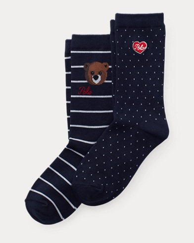 Bear Emoji Sock 2-Pack
