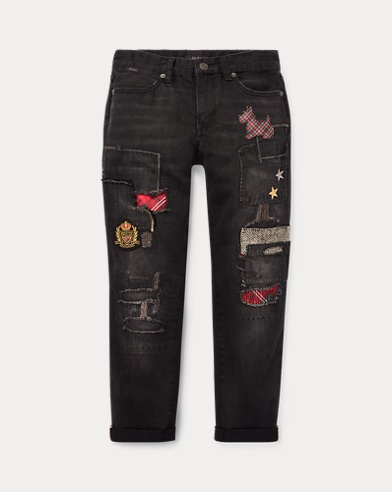 Jeans boyfriend patchwork Slim-Fit