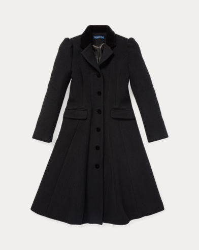 Wool-Blend Princess Coat