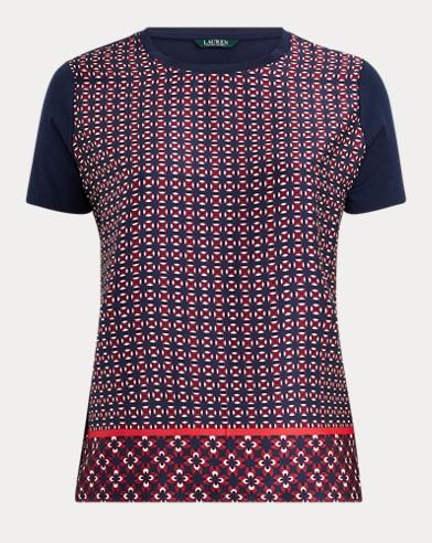 T-shirt à motif géométrique