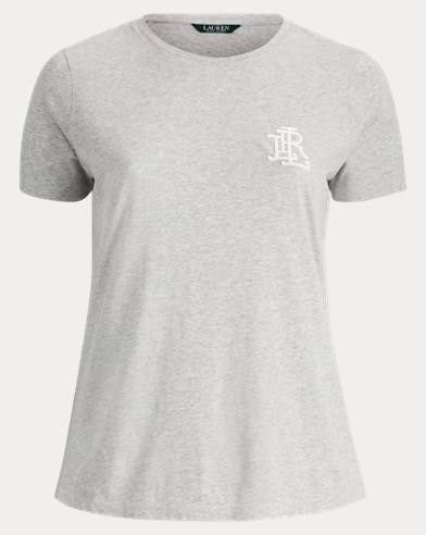 Beaded-Monogram Jersey T-Shirt