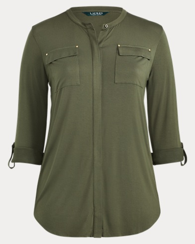 Buttoned Jersey Top