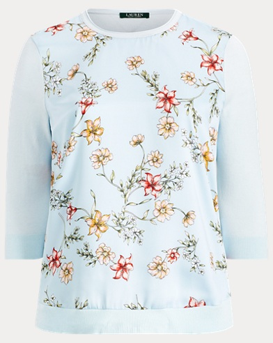 Floral Cotton-Blend Sweater