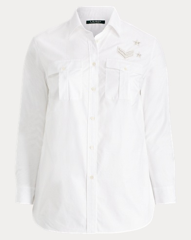 Bullion-Patch Poplin Shirt