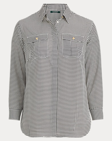 Crepe Button-Down Shirt