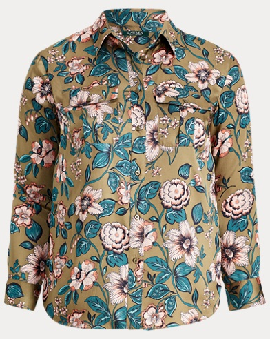 Floral-Print Button-Down Shirt