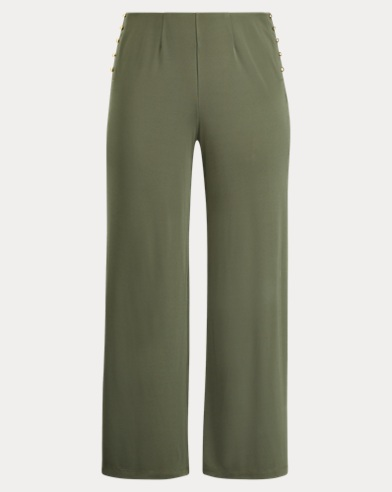 Stretch Jersey Wide-Leg Pant