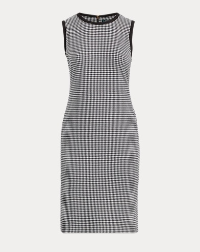 Houndstooth Sleeveless Dress