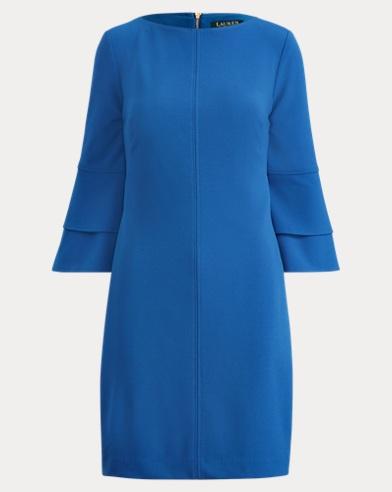 Crepe Bell-Sleeve Dress
