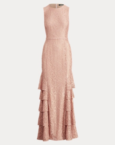 Lace Sleeveless Gown
