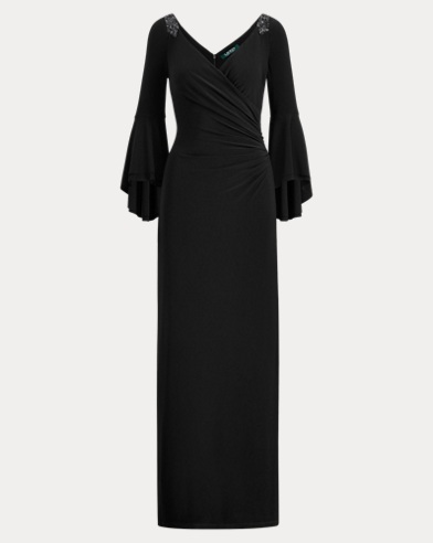 Jersey Bell-Sleeve Gown
