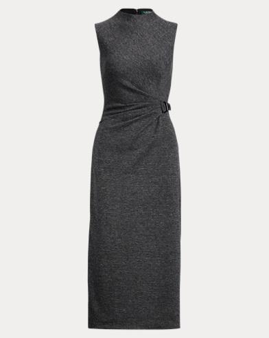 Buckled Mockneck Dress