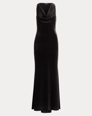 Velvet Cowlneck Gown