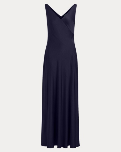 Crepe Sleeveless Gown
