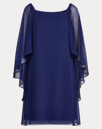 Georgette Cape Dress