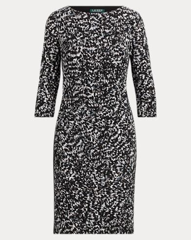 Print Stretch Jersey Dress