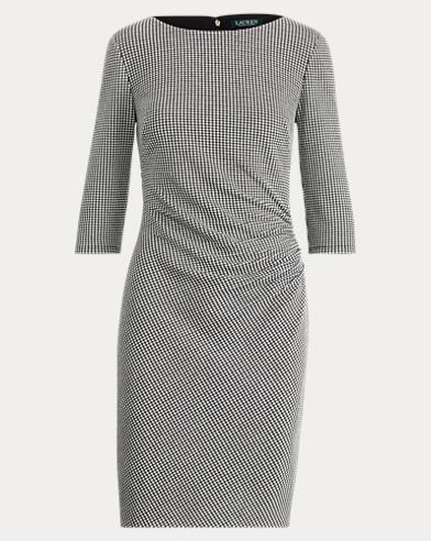 Knit Jacquard Sheath Dress