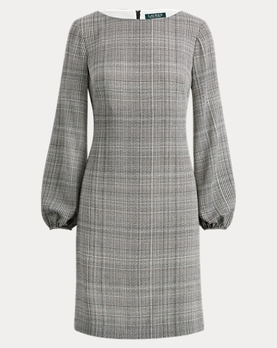 Glen Plaid Shift Dress