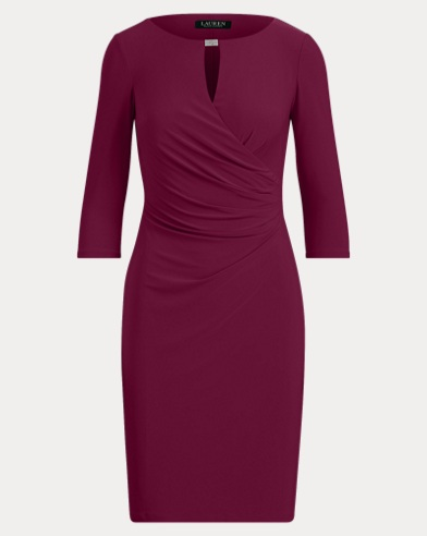 Keyhole Stretch Jersey Dress