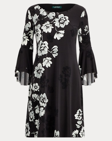 Print Flutter-Sleeve Dress