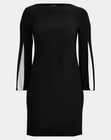 Split-Sleeve Jersey Dress