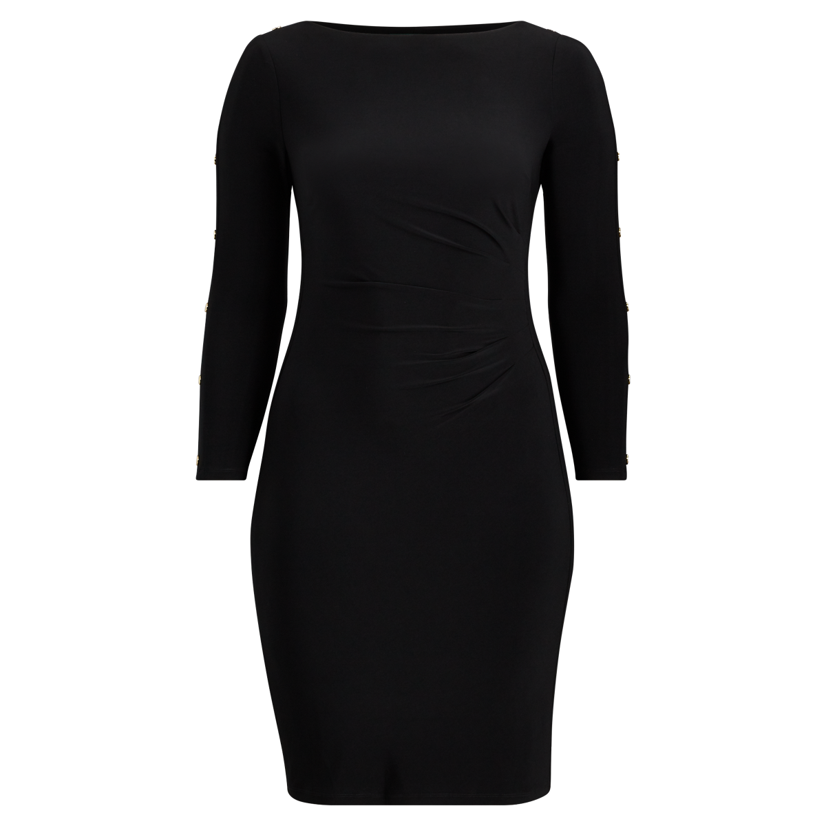 2b9d9bc5e3 Button-Trim Matte Jersey Dress