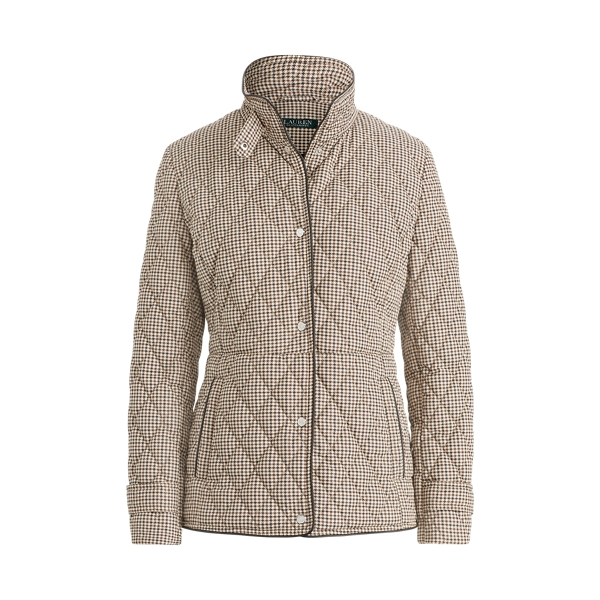 Ralph Lauren Quilted Houndstooth Jacket Houndstooth Xs