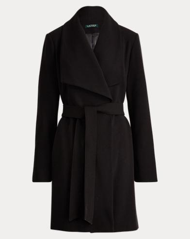 Crepe Open-Front Coat