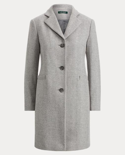 8cd85f215f1 Lauren Herringbone Car Coat 1