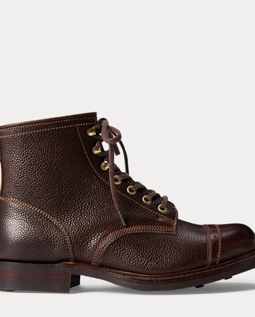 Pebbled Leather Boot by Ralph Lauren