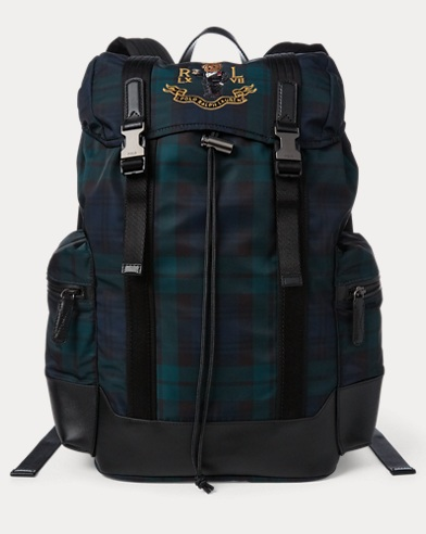 Polo Bear Tartan Backpack