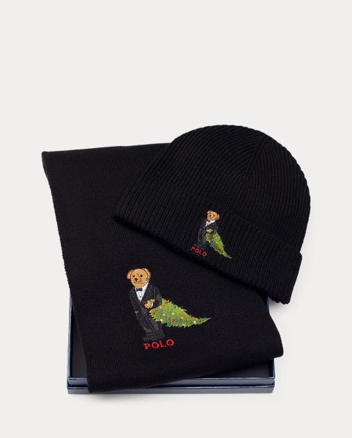 1c8ef8001 Polo Bear Hat & Scarf Set