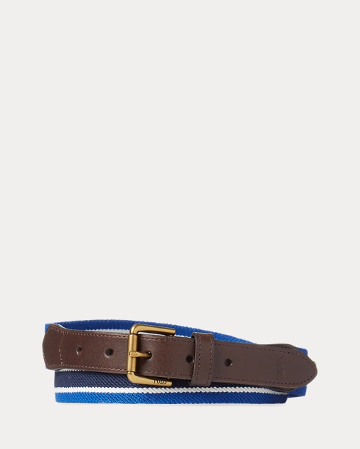 31102da4d3 Striped Stretch Twill Belt