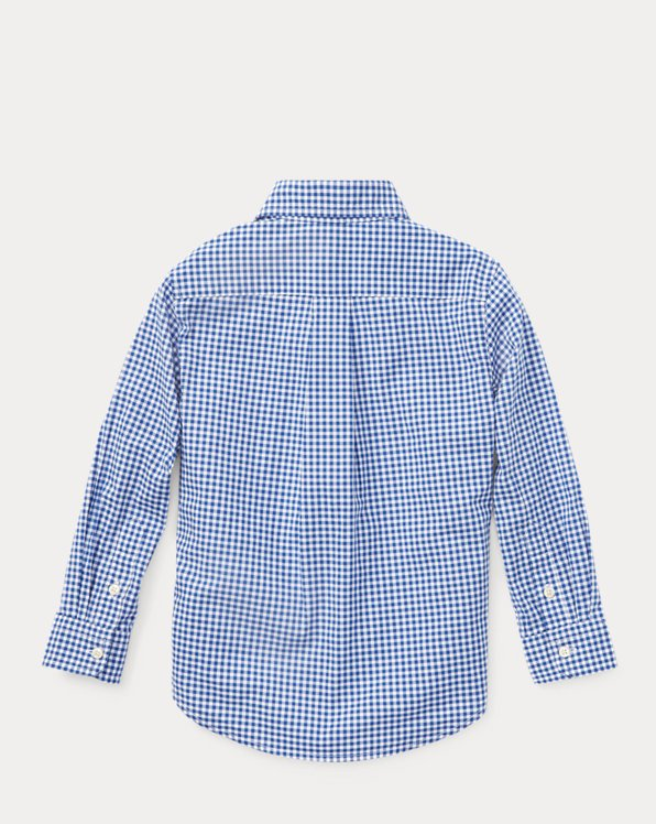 Gingham Cotton Poplin Shirt