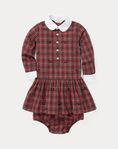 Plaid Shirtdress & Bloomer