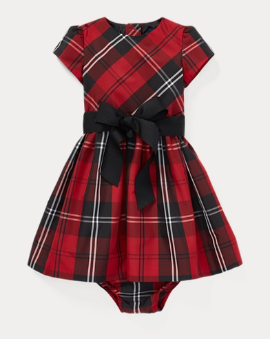 Tartan Plaid Dress & Bloomer