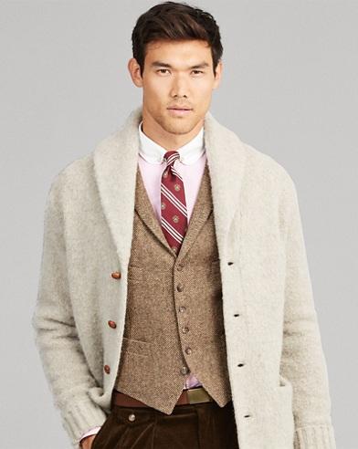 Herringbone Wool Vest