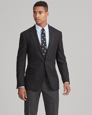 Polo Plaid Twill Suit Jacket