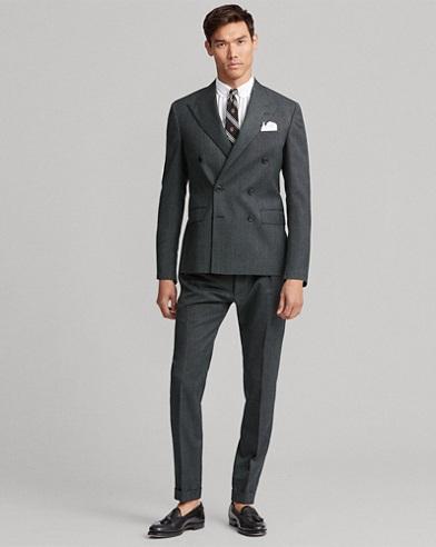 Polo Tick-Weave Wool Suit