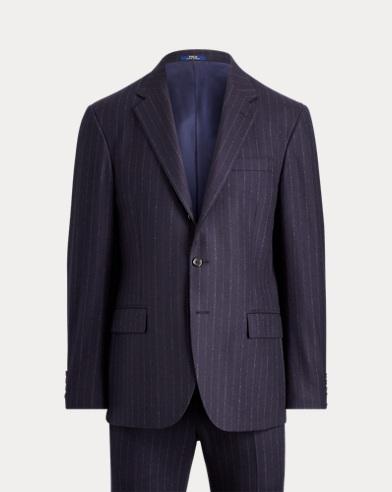 Polo Chalk-Stripe Flannel Suit
