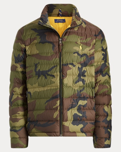 Camo Packable Down Jacket