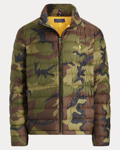 Fr Down Lauren Camo JacketRalph Packable EWD2IH9