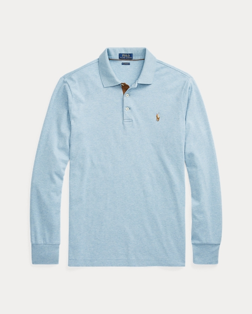 finest selection a767d 83a4e Custom Slim Long-Sleeve Polo