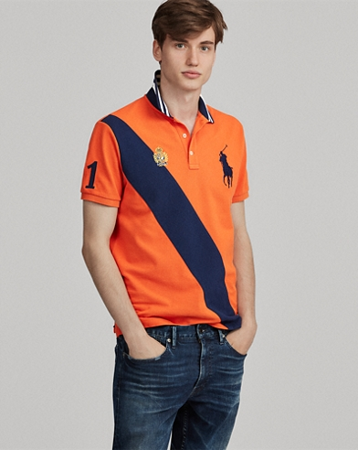 Polo de piqué Custom Slim-Fit