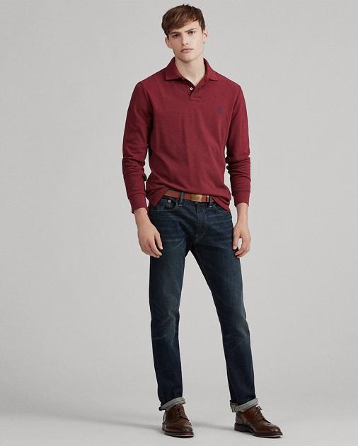 9dd2fd52 Slim Fit Mesh Long-Sleeve Polo | Ralph Lauren UK