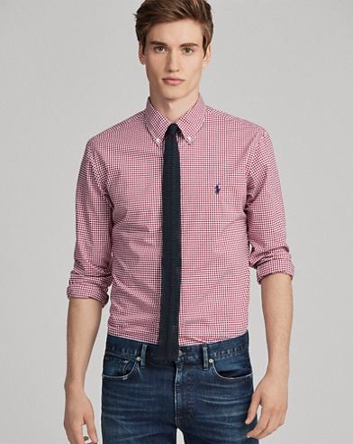Camisa classic fit con cuadros vichy